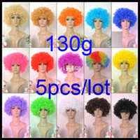 Wholesale colors fashion multi colored synthetic wig big afro party wigs high quality