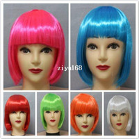 Synthetic Hair Wig,Half Wig Multi-Color multi-colors cheap party wigs synthetic hair wigs 1 piece free shipping -sale