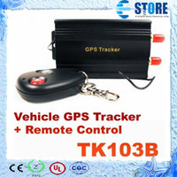 Wholesale Hot TK103B GSM GPRS GPS GLOBAL Tracker for car Vehicle tracker with remote control DHL Free