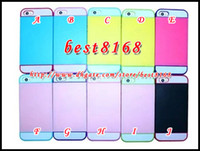 Cheap For Iphone 5 5G 5S NX ID Credit Card Slot Box 3 in 1 TPU Hybrid silicone gel plastic Hard Case Luxury Camo Fashion skin Cover cases
