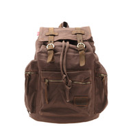 Wholesale US Stock Hot Multi Color Men s Vintage Canvas Camping Travel Sport Shoulder Bag Backpack Colors