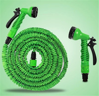 bath gardens - Expandable Plastic Hose FT flexible Garden water Pipe With Spray Nozzle For washing Car Pet Bath watering garden