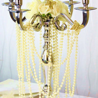Wholesale 33 Feet mm Ivory Pearl Round Garland Wedding Favor Christmas Spool Beads Home Ceremony Centerpiece String Favor Craft Decor