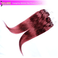 Wholesale 12 quot quot strands pack g Brazilian Hair Micro Ring Hair Extension Soft Straight YY
