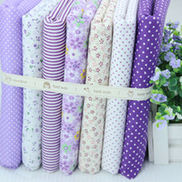 Wholesale cm cm pieces Purple Cotton Fabric Fat Quarter Bundle Patchwork Quilting Tilda Fabric Sets Sewing WL151