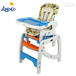 Wholesale Hot Selling Lecoco Multifunctional Combination Combstyle Baby Child Dining Chair Adjustble High Dining Table Baby Seat