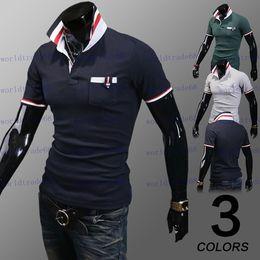 Wholesale Brand New Men s Polo Shirt Cotton Short Polo Fashion Brand Turn down Collar Breathable Colors M XXL