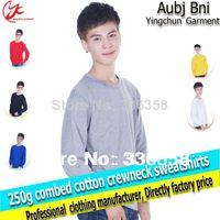 Cotton blank hoodie - pullovers crewneck hoodies men fashion crewneck sweatshirt colors blank hoodie retail