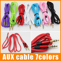 Wholesale Aux Cable Audio Auxiliary mm Male to Male Colorful Cable Stereo Car Extension Cable for iPhone for Samsung for Digital Device up
