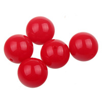 gumball beads - 20mm Chunky Beads Acrylic Bubblegum Beads Fluorescent Red Gumball Beads Fit DIY Gift Baby Bracelet Necklace