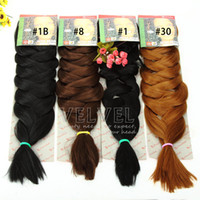 Wholesale 6pcs Xpression Braiding Hair Gram quot Colors In Stocks Ombre Kanekalon Braiding Hair Expression Braiding Hair