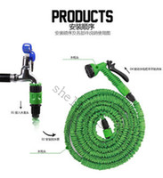 Wholesale Hot Expandable amp Flexible Plastic Hose Water Garden Pipe With Spray Nozzle For Car Wash Pet Bath Original FT FT FT FT DHL Free Ship