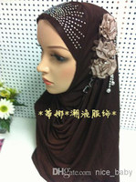 Wholesale 2014 Latest Fashion Muslim Flower Hijab Islamic Scarf Fast Delivery Mixed Colors