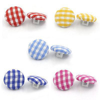 Wholesale Acrylic Buttons Sewing Fabric Covered Round Mixed mm quot Dia