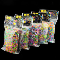 Wholesale Best Rainbow Loom Bands Rubber Bands DIY Wrist Band Bracelet Glitter Jelly glow in the Dual Color Multi Color bands clips