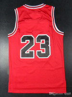 Wholesale Top Quality Men s Basketball Jerseys Michael Jordan Black Red White Embroidery Logo With Name Mix Order