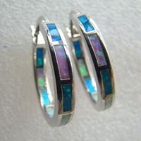 Wholesale fashion jewelry opal jewelry earrings K White gold plated jewelry DSC05160 g