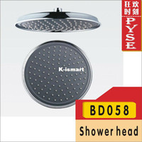 Without Diverter Water Saving Shower Heads Chrome Free shipping BD058 ABS plastic negative ion shower head bath shower rain shower head overhead shower