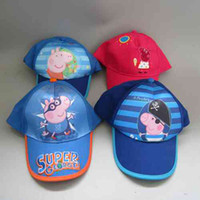 Wholesale 4 Styles Peppa Pig Hat Baseball Hat Kid Summer Cap for Girls Boys Children