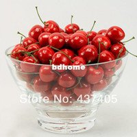 Wholesale Red Fruit Cherry Decorative Foam Simulation House Kitchen Indoor Wedding Party Decorations