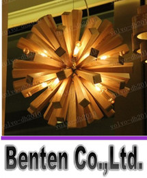 Wholesale LLFA513Fireworks wood chandelier Southeast Ash logs of the original ecology the original meaning of art lamp bedroom lamp lights restaurant