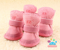 Shoes & Socks Fall/Winter Chirstmas Pet supplies cotton shoes shoes classic ugg boots to keep warm type dog shoes wholesale