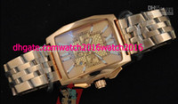 Limited Edition auto jump box - Factory Seller Luxury New In Box AAA Quality Flying B Jump Hour Automatic Mechanical Mens Watch k Rose Gold Men s Sport Wrist Watches