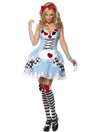 Wholesale Sexy Alice In Wonderland Fancy Dress Halloween Party Costumes