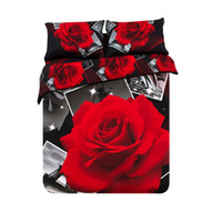100% Cotton Woven Home (6 PCS SET) Free Shipping 3D Flower printed Bed linen and fitted sheet 3d linens satin bed linen bed cover queen size