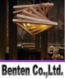 Wholesale LLFA5138 Personalized artistic creative restaurant designer wood chandelier minimalist bedroom den it led lamp