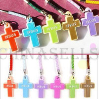 Universal bags ads - Christian Cross phone chain bag pendant cross JESUS Sunday school AD gift