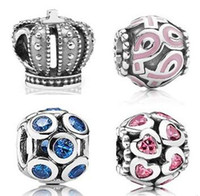 pandora charms - 200PCs Mixed Order High Quality Diy Jewelry Beads Silver Charms Metal Beads Fit European Charm Bracelets For Pandora Style Jewelry