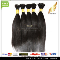 Wholesale 18 inch Natural Color Straight Human Hair Bulks Unprocessed Brazilian Virgin Hair Bulks g piece pieces Hair Extensions
