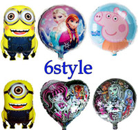 Hot sell Kids Ballons Frozen Peppa Pig Monster High Despicab...