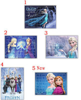 Wholesale Lowest New Anna Elsa Frozen Puzzle Princess Olaf Cartoon Jigsaw Puzzle For Children Adults Toys Novelty Gifts Melee