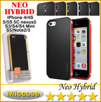 For Apple iPhone TPU Plastic White iPhone 6 SGP Neo Hybrid EX Hard Cover Case Bumper Cases For iPhone 6 4S 5S 5C Galaxy N7100 N9000 N9006 S3 S4 S5 nexus5 With Retail Packaging