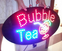 Wholesale HOT SELLING LED BUBBLE TEA SIGN LED SIGN LED SIGNS LED OPEN SIGN