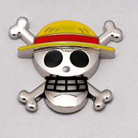 auto window motors - Car Chrome Luffy One Piece D Skull Emblem Badge Truck Auto Motor Sticker Decals