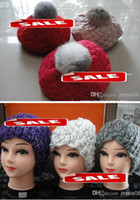 Wholesale Women Lady Winter Beret Braided Baggy Beanie Knitted Hat Cap children Crochet ski Cycling hats caps helmet Ear Muffs many designs Xmas gifts