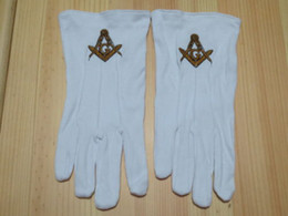 Wholesale Masonic Gloves Mason Freedom Customized Made Embroidery