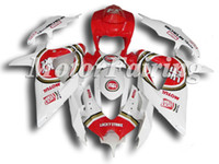 Wholesale Fairings for GSXR600 K8 GSXR600 GSXR600 GSXR White Red Luckystrike ABS