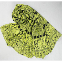 Spot Which of the Cotton Spring and autumn new European station wagon weapons fluorescent color cotton twill long scarf shawls wholesale oversized Lady