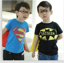 Wholesale 2014 summer boys t shirt Superman amp batman fashion t shirt without cloak
