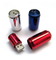 Wholesale memory driver Plastic Pop can beer bottle GB usb flash drive For Beer pen stick