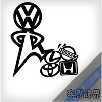 Wholesale funny vinyl wrap reflective tape car modification stickers and decals for vw golf jetta tiguan gti r20 and so on