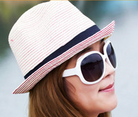 Wholesale Fashion women straw sun hats beach hat Sunhat CHURCH HAT cap beret sun hats caps