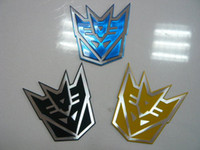 autobot car badge - 10pcs Decal Autobot Chrome Badge Emblem Auto Car Sticker Stick Car Decal
