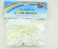 Wholesale Rainbow Loom kit late Rubber band loom Bands bracelet amazing gift for children single colors handmade DIY bands Clips A Hook