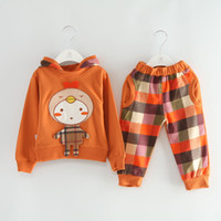 Girl Spring / Autumn Long Wholesale 2014 New Baby Girls Autumn Spring sets Hoodies +trousers Children's cotton cute cartoon designs Outfits baby girl winter clothing