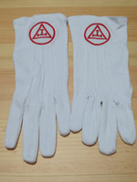 Wholesale Masonic Gloves Mason Freedom Customized Made Embroidery N4